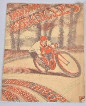 1909 INDIAN MOTORCYCLES CATALOG BROCHURE