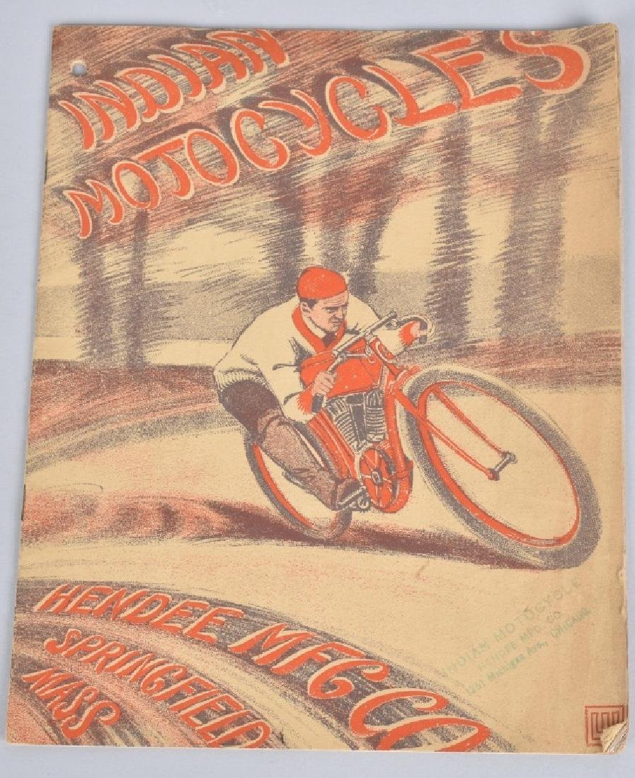 1909 INDIAN MOTORCYCLES CATALOG BROCHURE