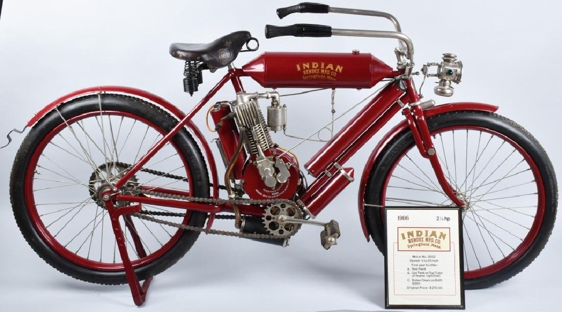 1906 INDIAN SINGLE RACER MOTOCYCLE