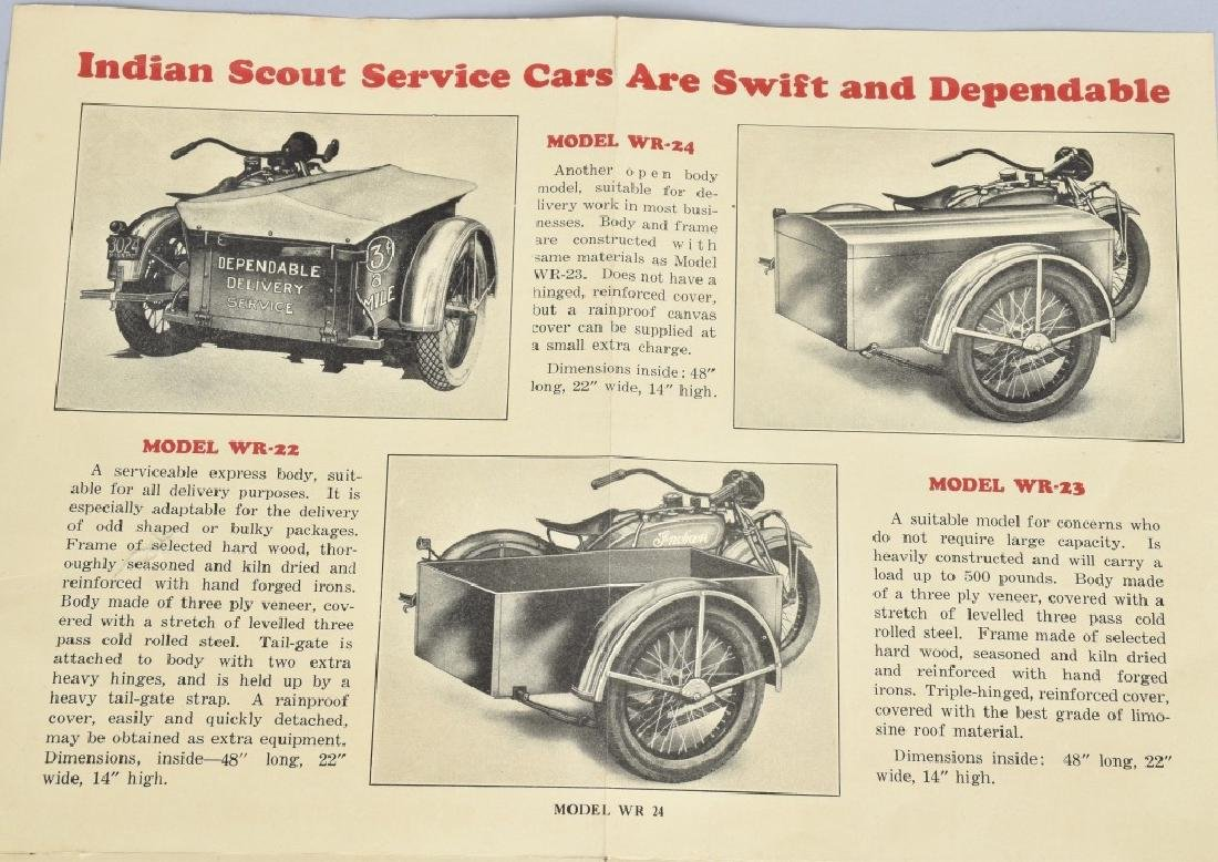 1927 INDIAN MOTORCYCLE SERVICE CARS FLYER - 4