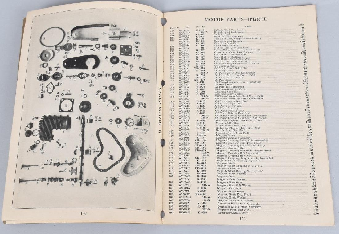 1930 HENDERSON MOTORCYCLE PARTS LIST CATALOG - 3