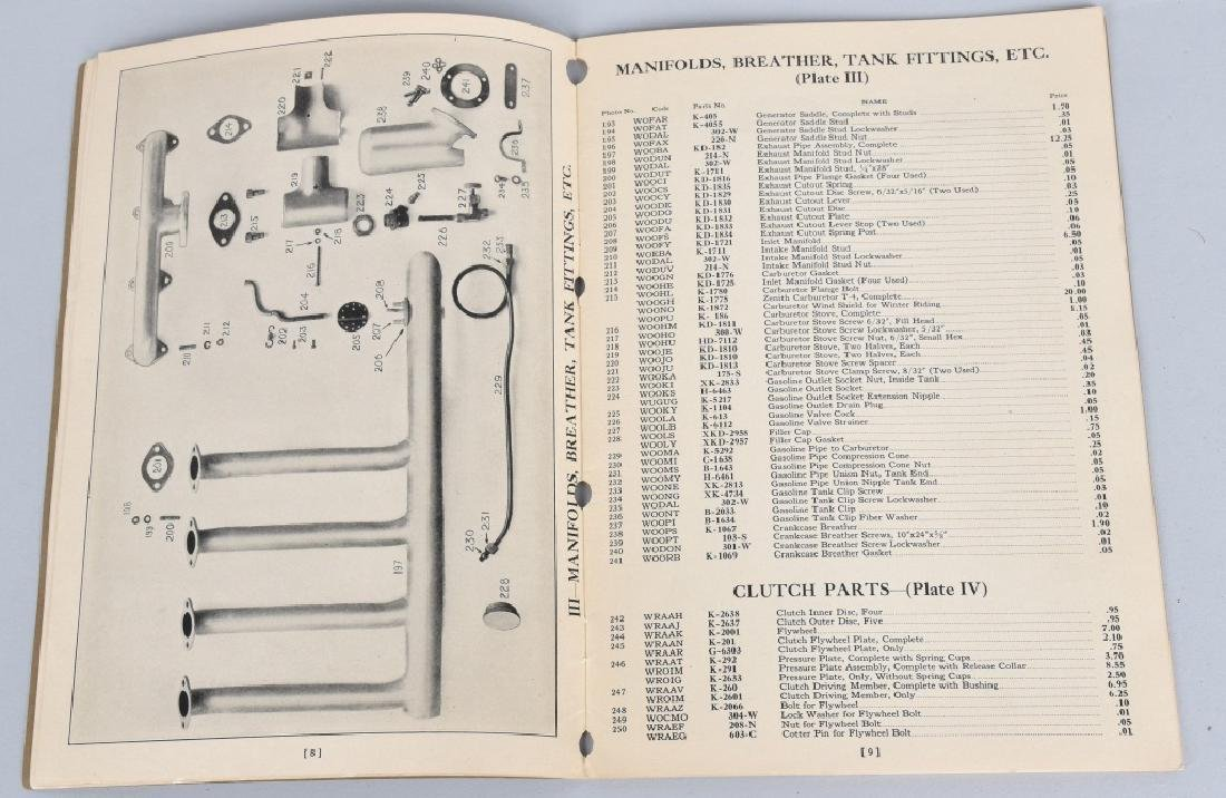 1930 HENDERSON MOTORCYCLE PARTS LIST CATALOG - 4