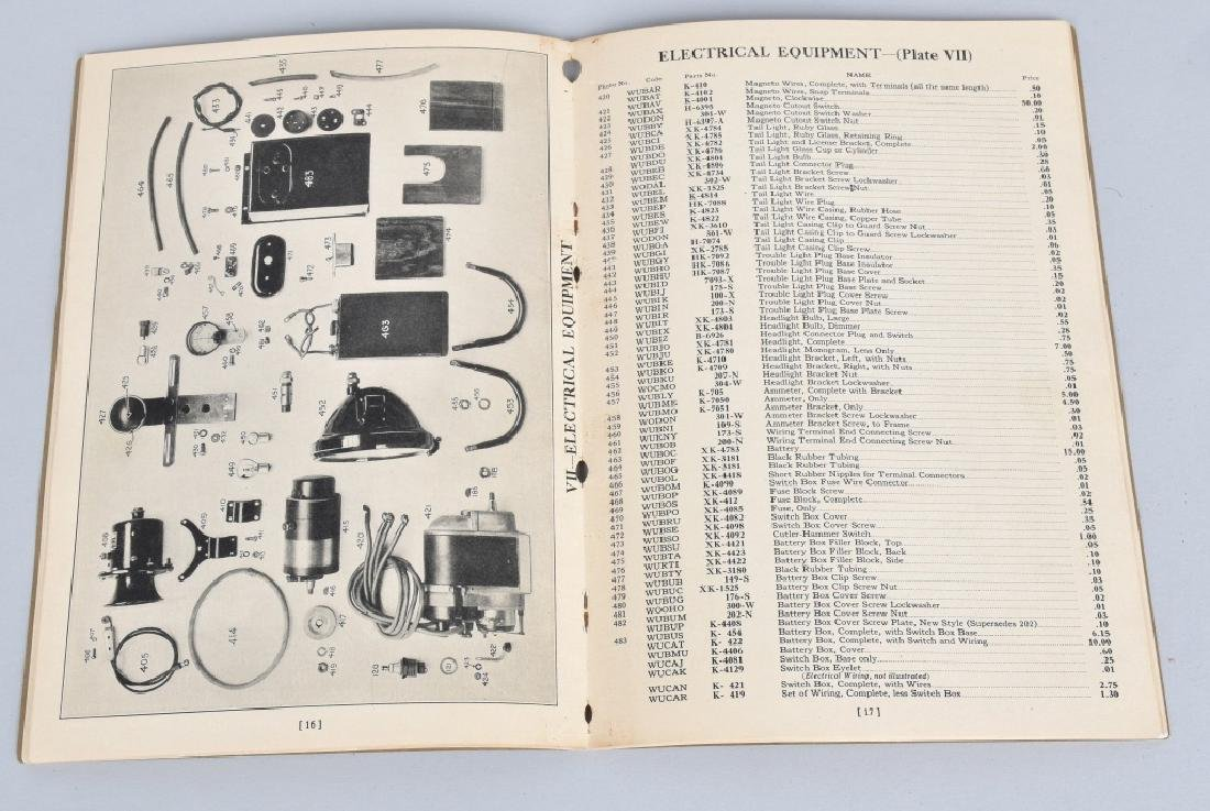 1930 HENDERSON MOTORCYCLE PARTS LIST CATALOG - 5