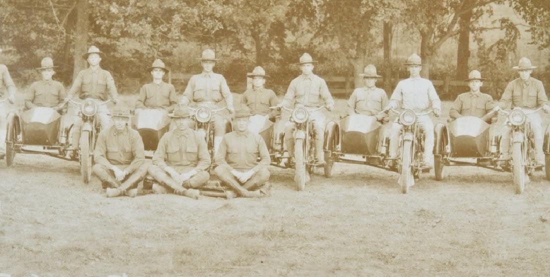 1918 HARLEY DAVIDSON MOTORCYCLE YARD LONG PICTURE - 4