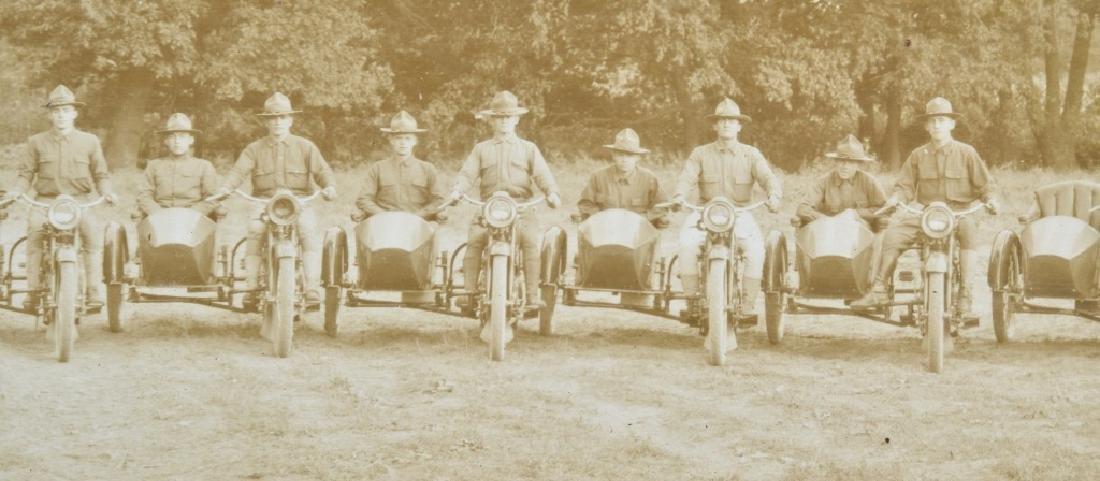 1918 HARLEY DAVIDSON MOTORCYCLE YARD LONG PICTURE - 5