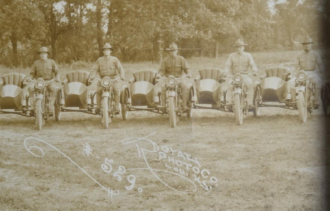1918 HARLEY DAVIDSON MOTORCYCLE YARD LONG PICTURE - 6