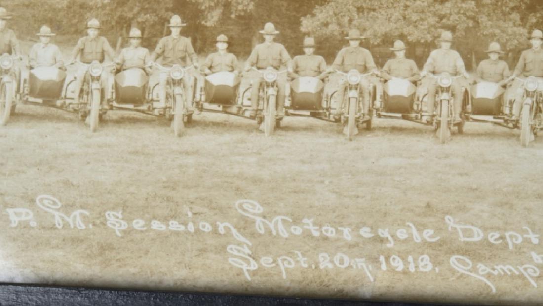 1918 HARLEY DAVIDSON MOTORCYCLE YARD LONG PICTURE - 7