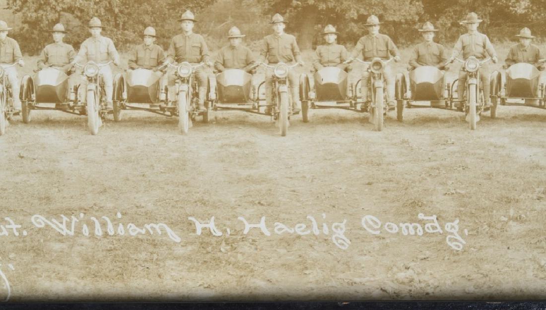 1918 HARLEY DAVIDSON MOTORCYCLE YARD LONG PICTURE - 8