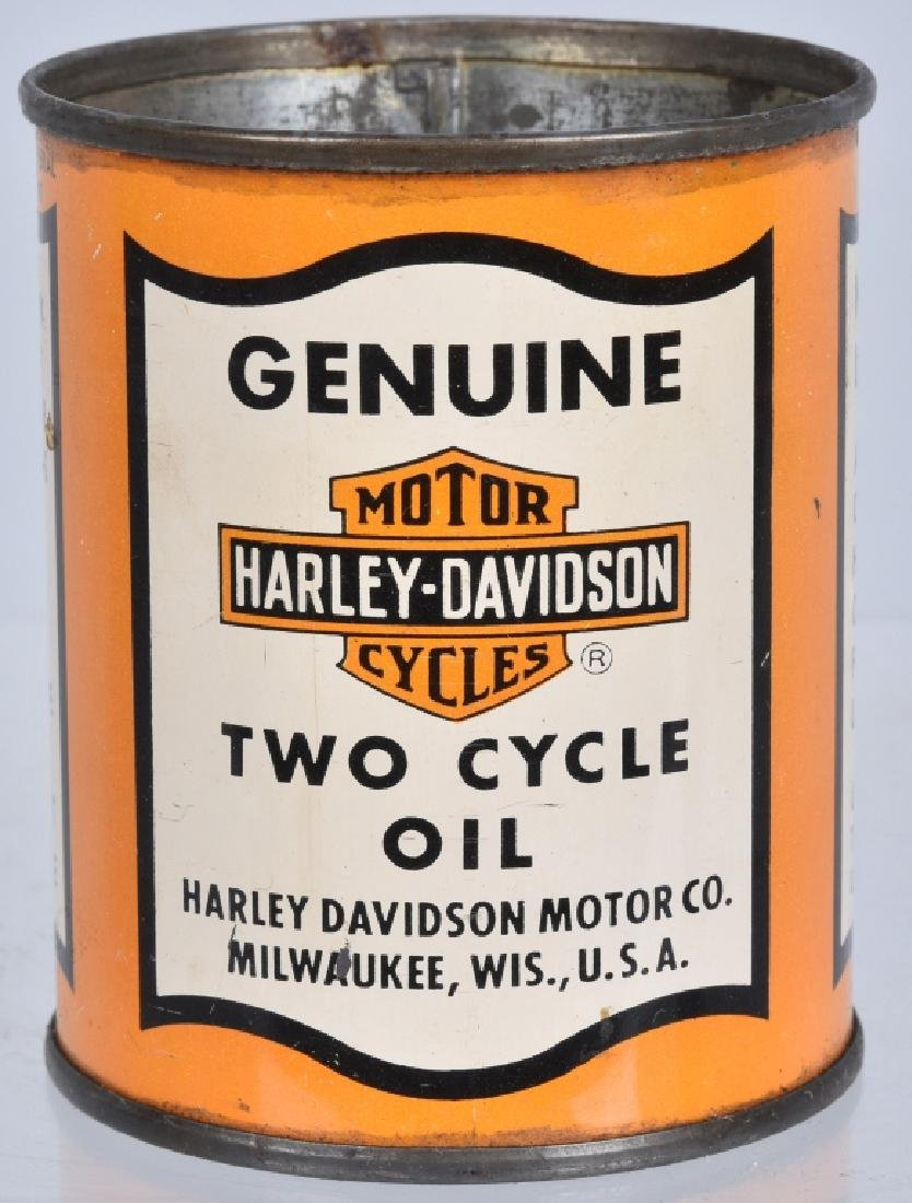 Early HARLEY DAVIDSON 1/2 PINT OIL CAN