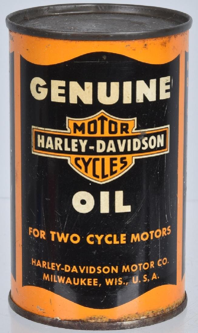 EARLY HARLEY DAVIDSON MOTORCYCLE OIL 8oz CAN