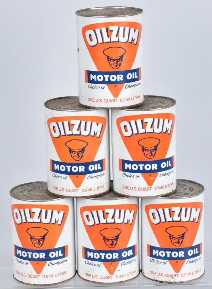 6- OILZUM MOTORCYCLE OIL 1 QUART CANS