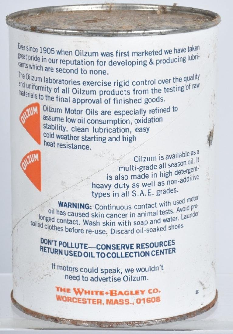 6- OILZUM MOTORCYCLE OIL 1 QUART CANS - 3