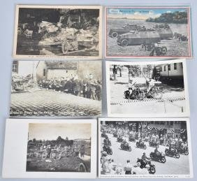 6- EARLY MOTORCYCLE POSTCARDS