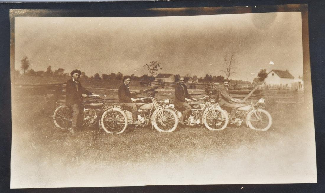 5- EARLY MOTORCYCLE POSTCARDS - 3