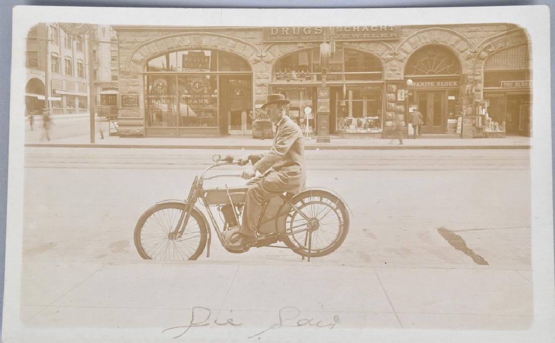 5- EARLY MOTORCYCLE POSTCARDS - 4
