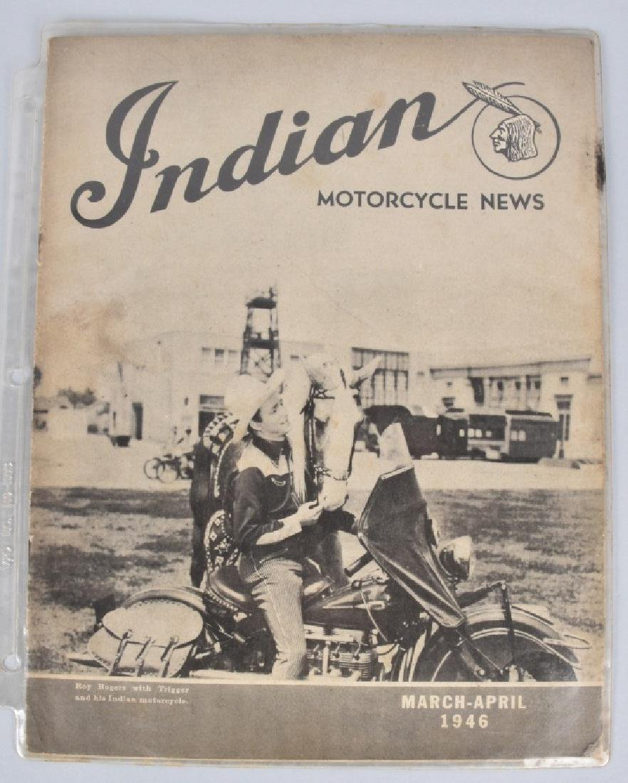 1946 and 1958 MOTORCYCLE MAGS with ROY ROGERS - 2