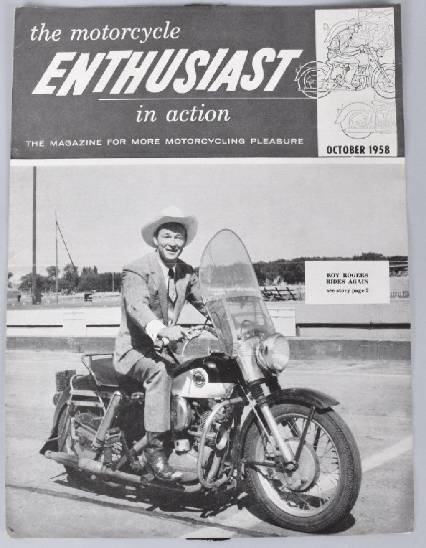 1946 and 1958 MOTORCYCLE MAGS with ROY ROGERS - 3