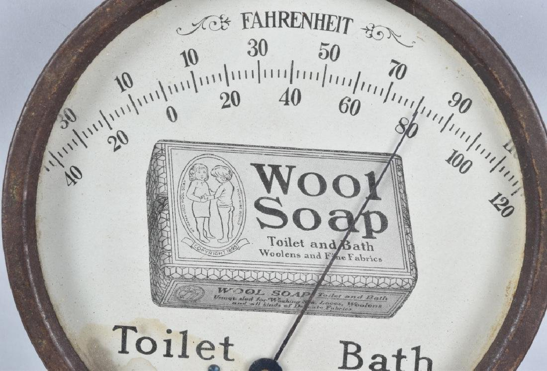 WOOD SOAP ADVERTISING THERMOMETER - 2