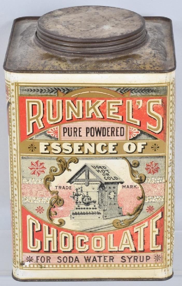 RUNKEL'S CHOCOLATE POWDER TIN