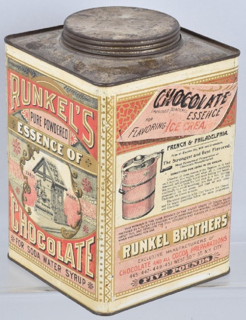 RUNKEL'S CHOCOLATE POWDER TIN - 3