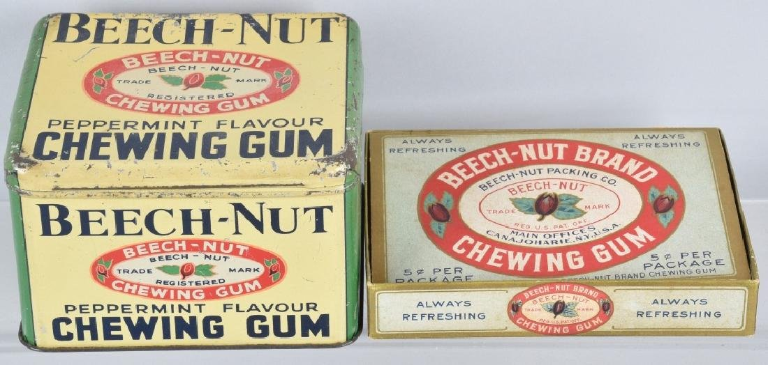 BEECH-NUT CHEWING GUM STORE DISPLAY TIN & MORE