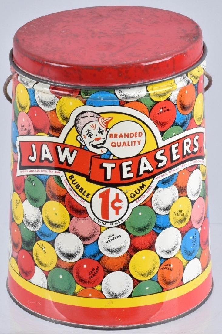 JAW TEASERS VINTAGE BUBBLE GUM TIN