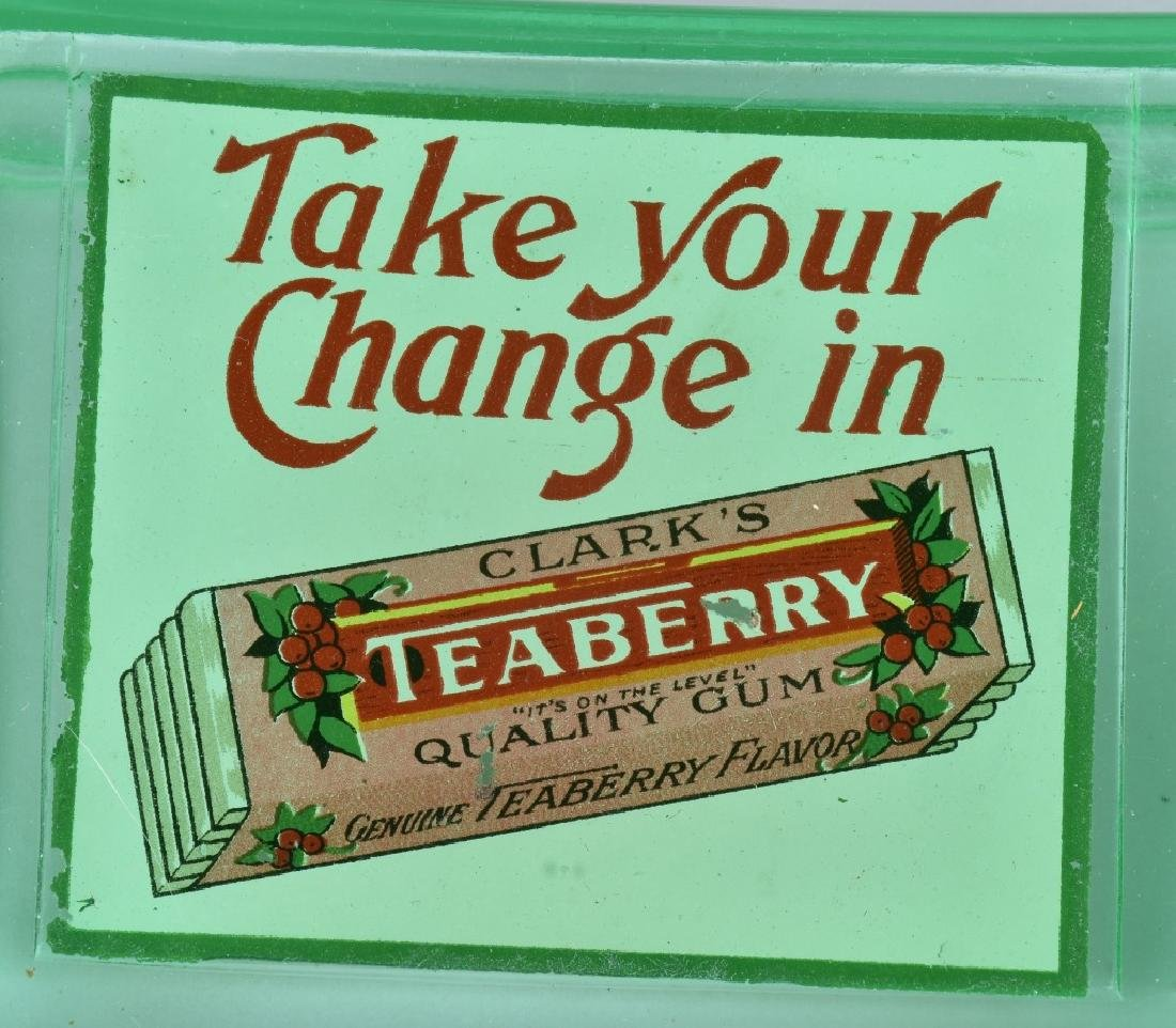 CLARKS TEABERRY GUM ADVERTISING CHANGE TRAY - 2