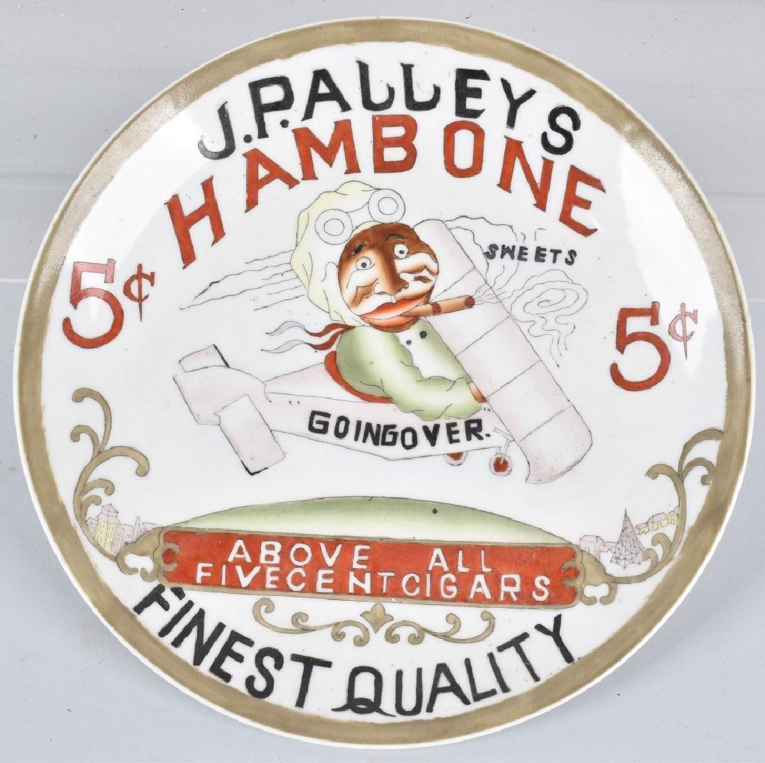 Buffalo Pottery HAMBONE CIGARS ADVERTISING PLATE