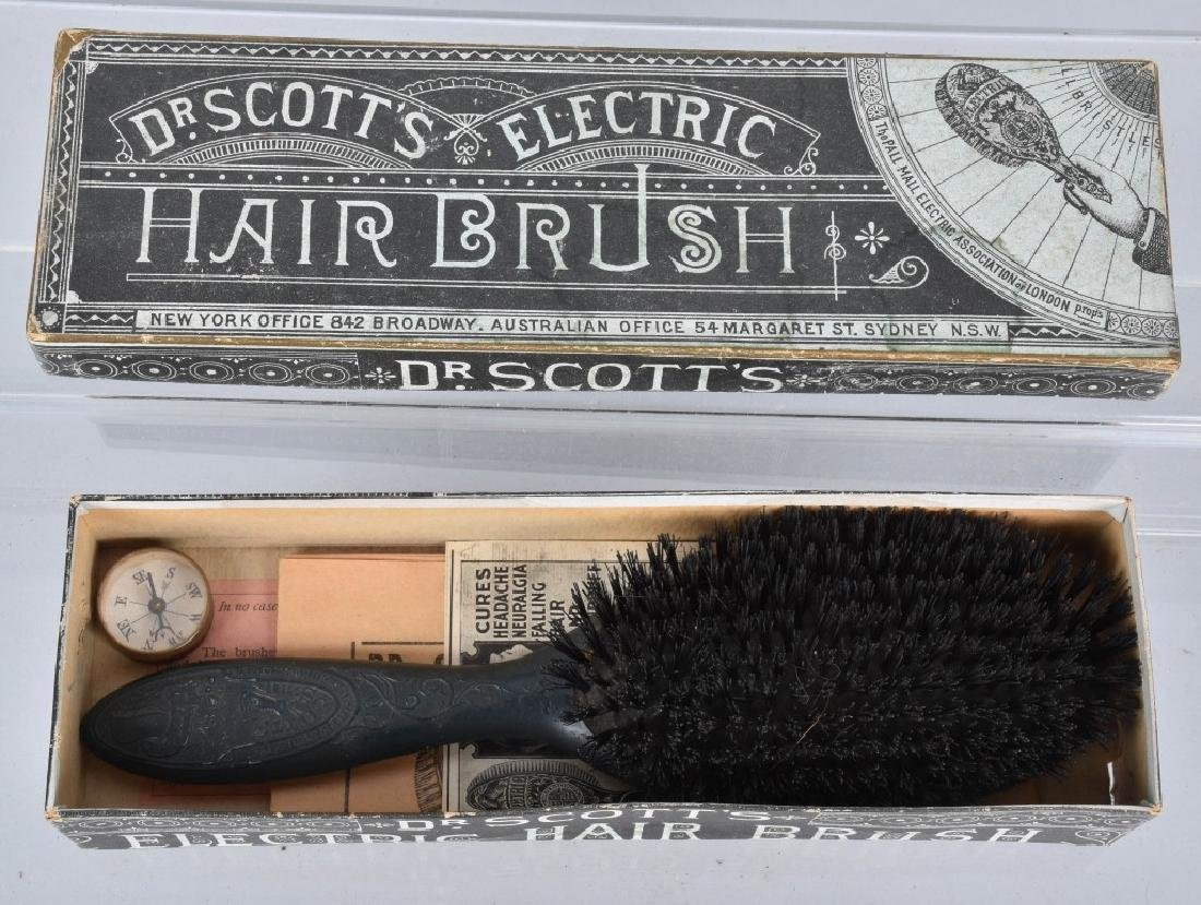 1800s DR SCOTTS ELECTRIC HAIR BRUSH w/ BOX