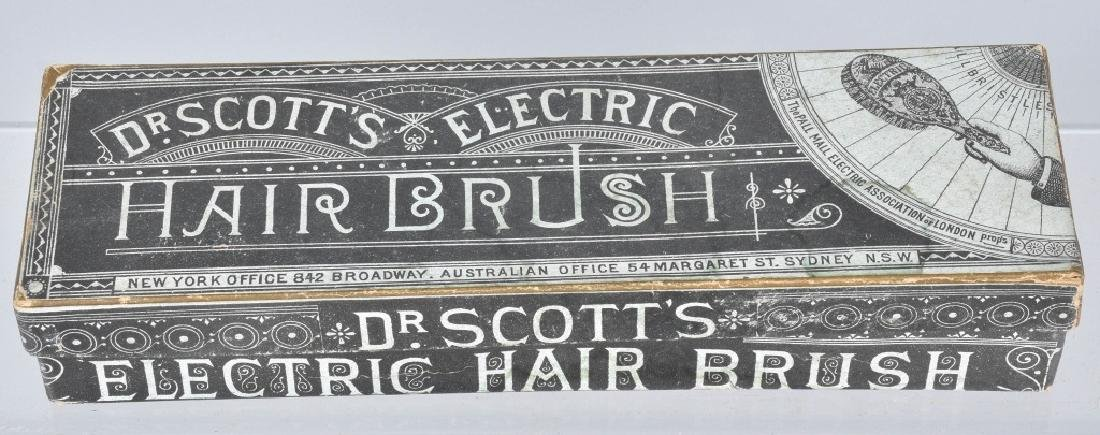 1800s DR SCOTTS ELECTRIC HAIR BRUSH w/ BOX - 3