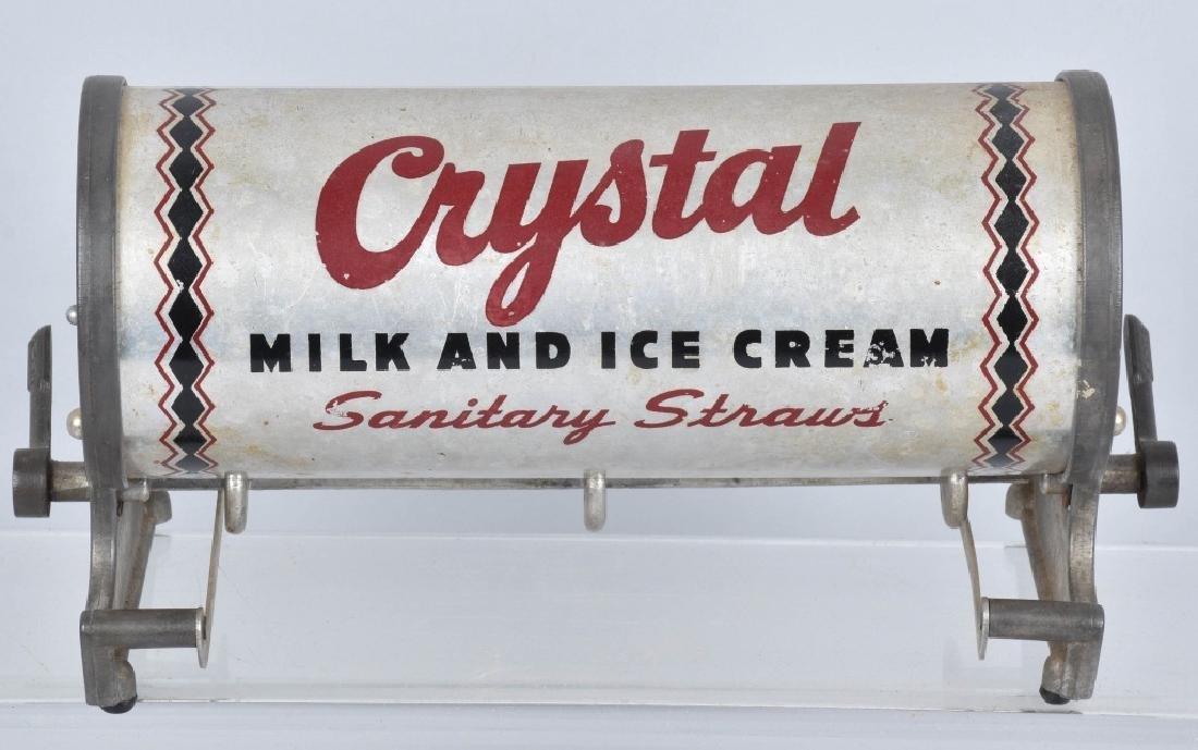 CRYSTAL MILK and ICE CREAM STRAW DISPENSER