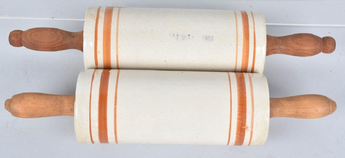 2-ADVERTISING STONEWARE ROLLING PINS - 4