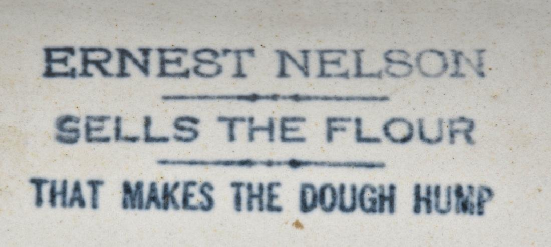 ERNEST NELSON ADVERTISING STONEWARE ROLLING PIN - 2