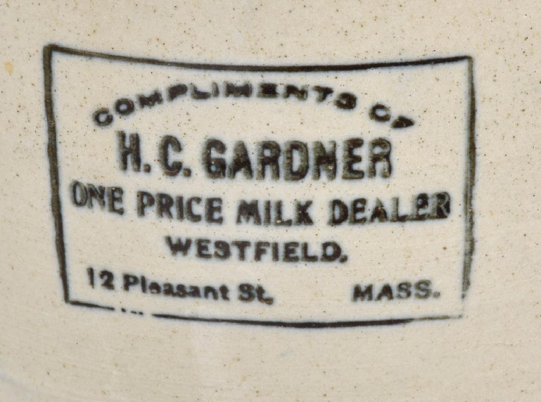 H.C. GARDNER MASS. ADVER. STONEWARE PITCHER - 2