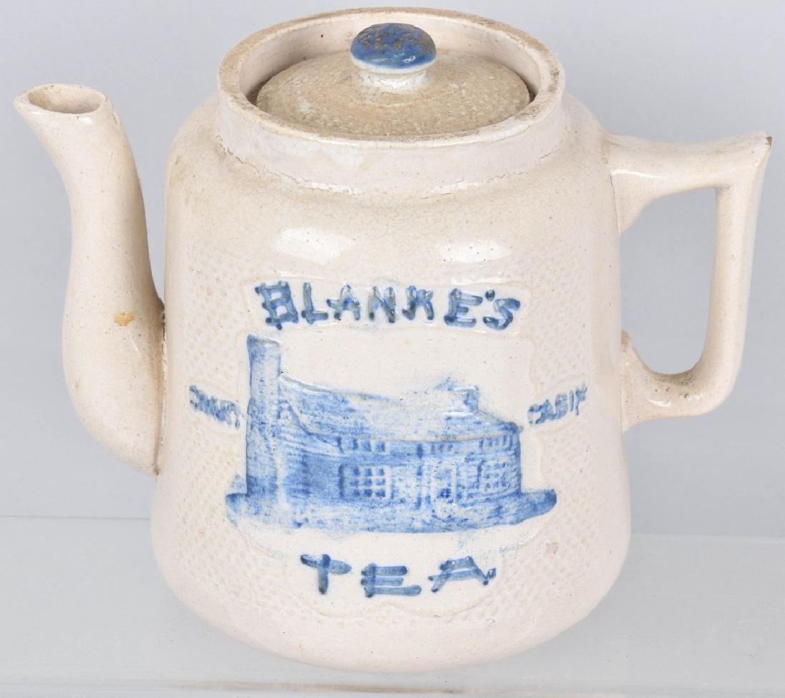 BLANKE'S GRANT CABIN SALT GLAZE TEA POT