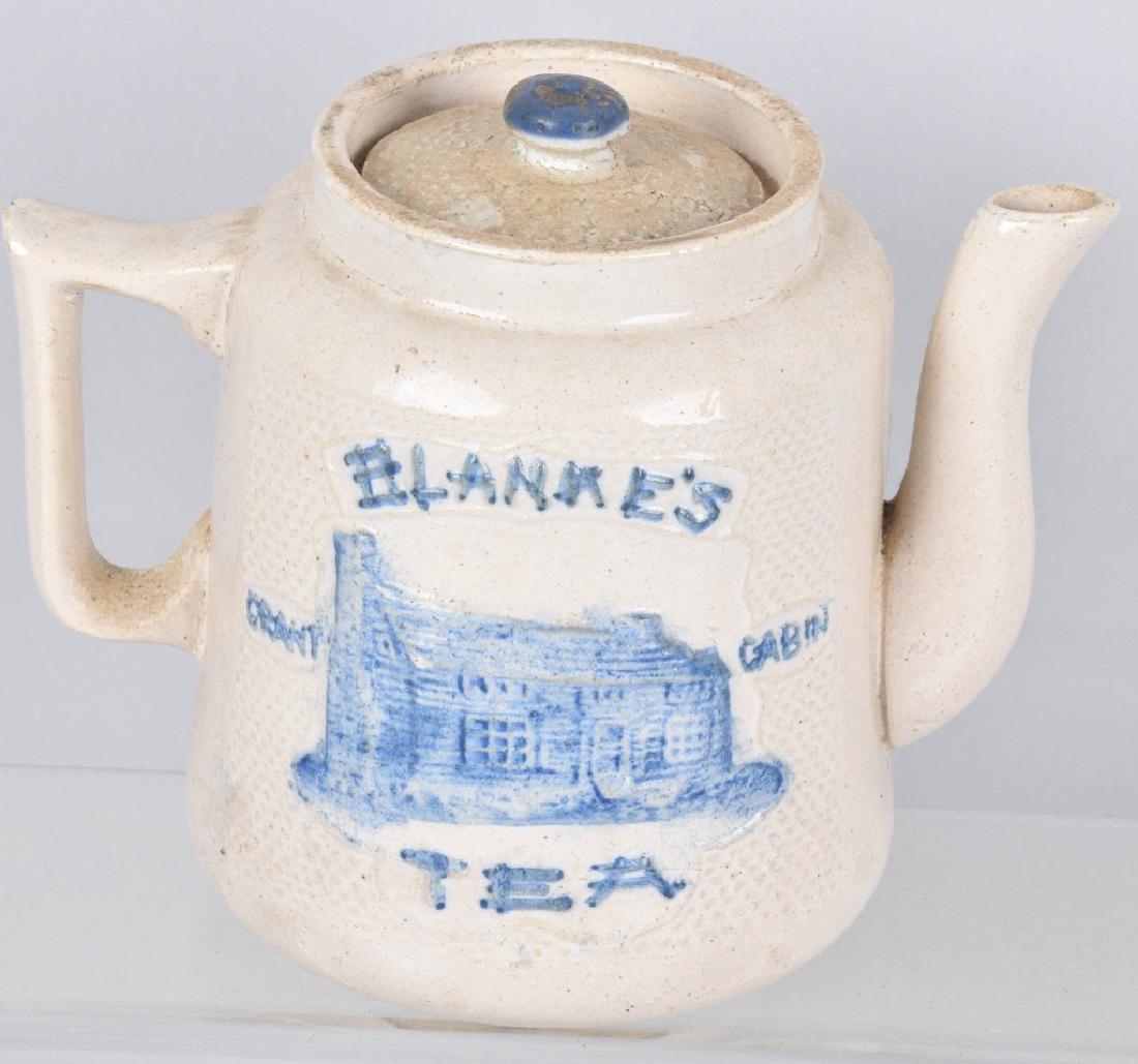 BLANKE'S GRANT CABIN SALT GLAZE TEA POT - 2