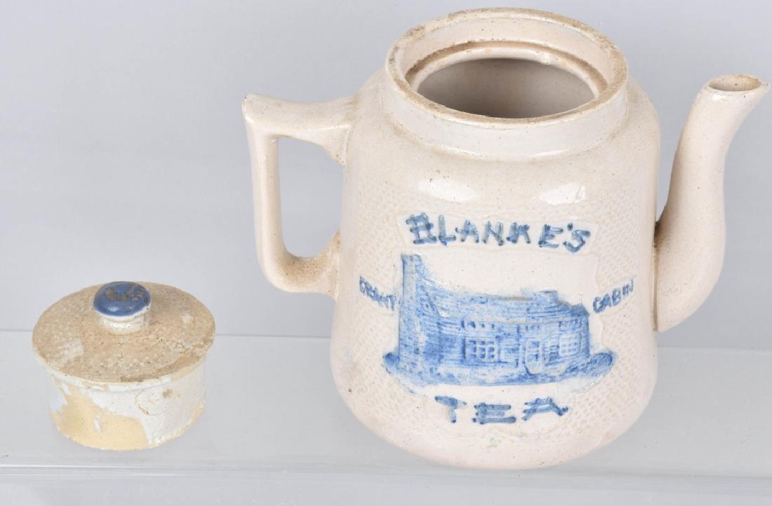 BLANKE'S GRANT CABIN SALT GLAZE TEA POT - 3