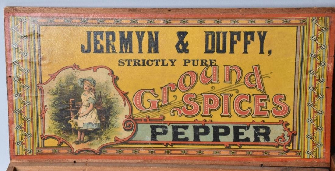 2-ADVERTISING WOOD CRATES, MUSTARD and PEPPER - 2