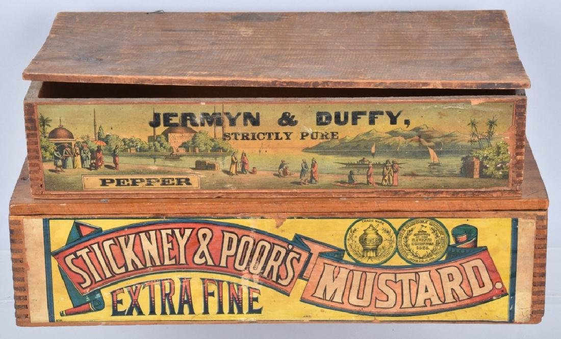 2-ADVERTISING WOOD CRATES, MUSTARD and PEPPER - 3