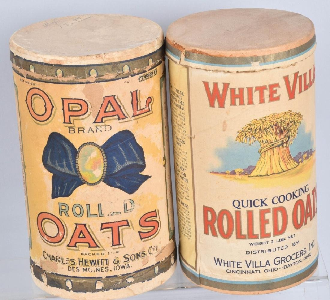 5-VINTAGE OAT MEAL ADVERTISING CONTAINERS - 2