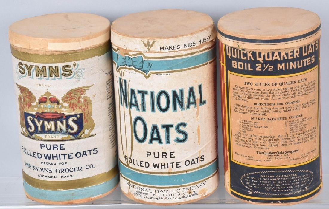 5-VINTAGE OAT MEAL ADVERTISING CONTAINERS - 3