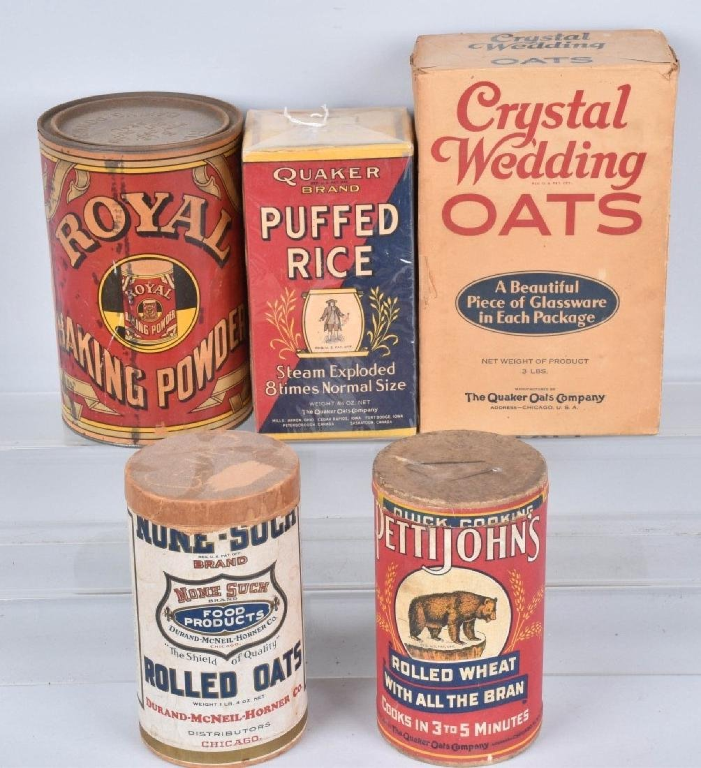 VINTAGE OAT MEAL ADVERTISING CONTAINERS & MORE