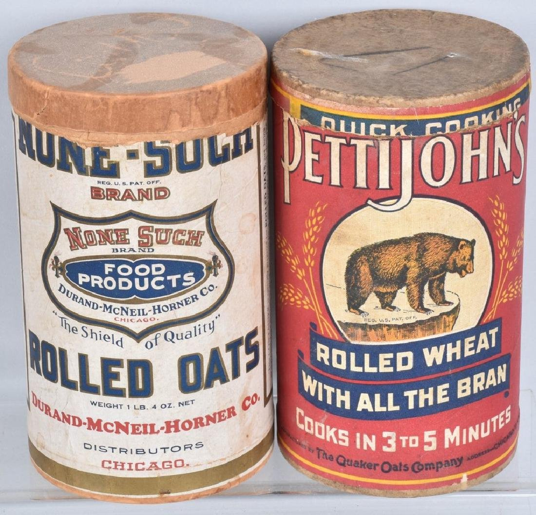 VINTAGE OAT MEAL ADVERTISING CONTAINERS & MORE - 4