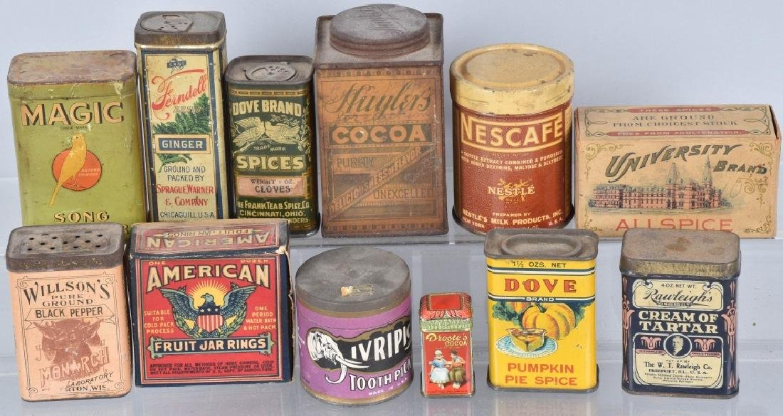 12-ADVERTISING ITEMS, TINS and MORE