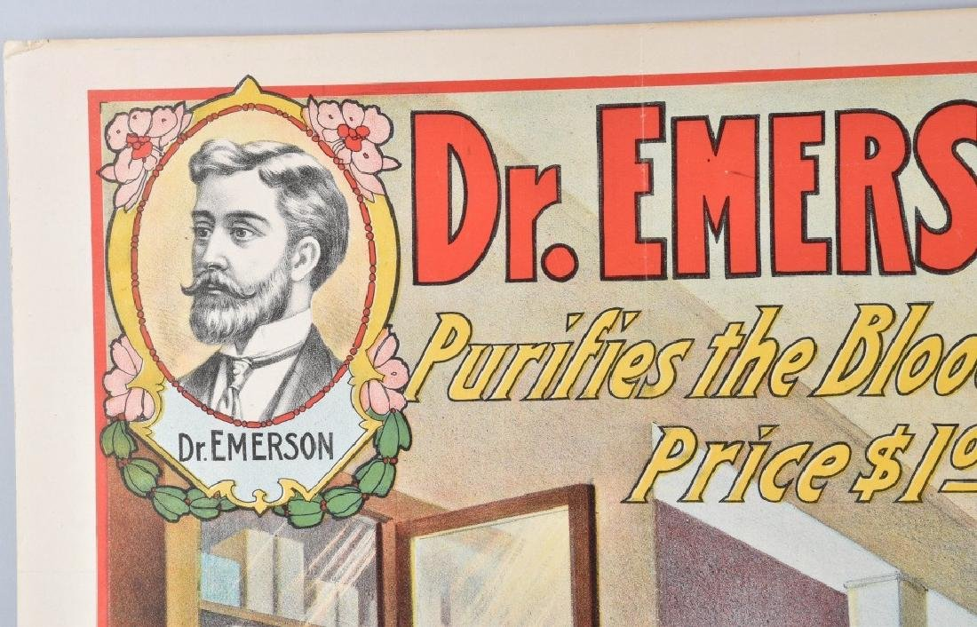 DR. EMERSON'S MEDICINE COLOR ADVERTISING POSTER - 2