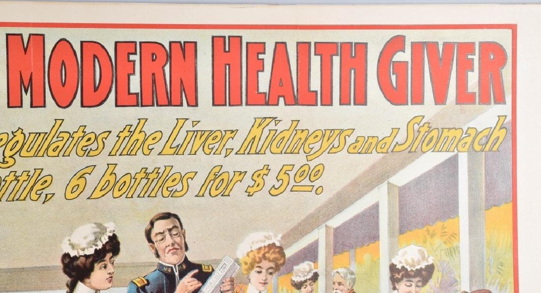 DR. EMERSON'S MEDICINE COLOR ADVERTISING POSTER - 3