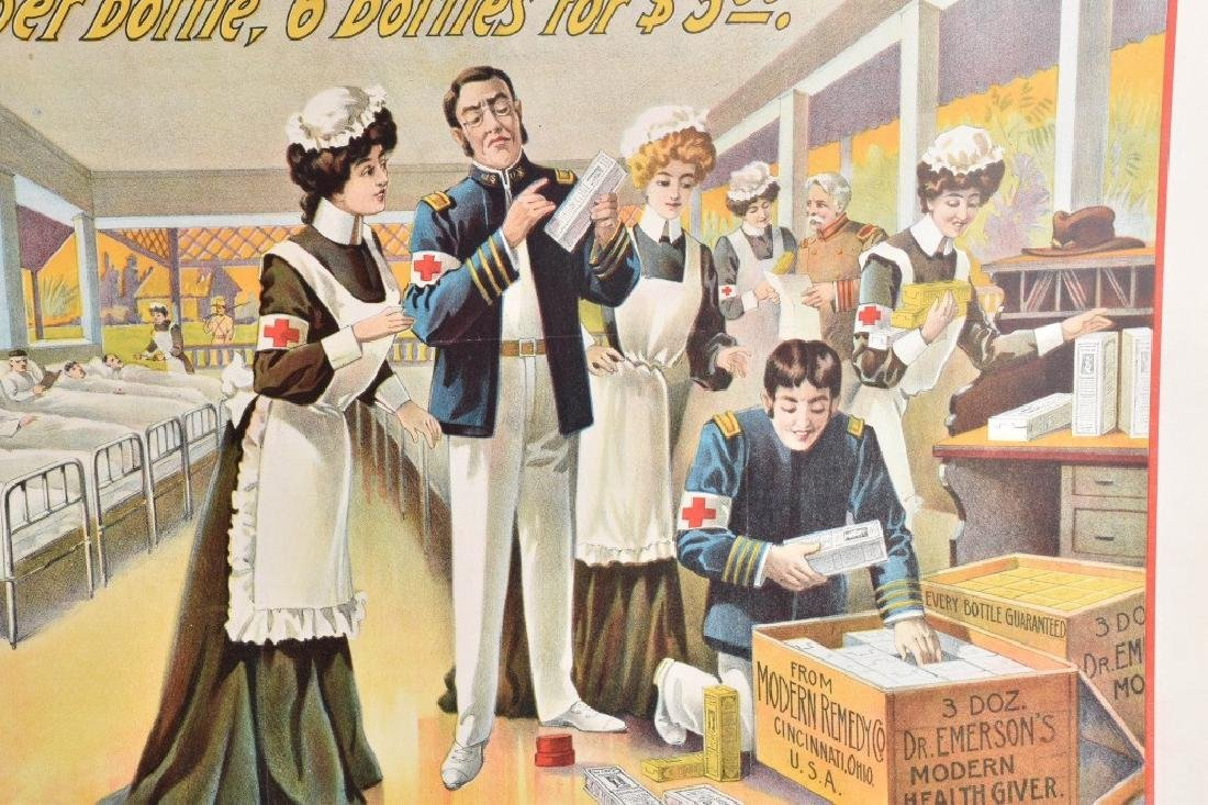 DR. EMERSON'S MEDICINE COLOR ADVERTISING POSTER - 4