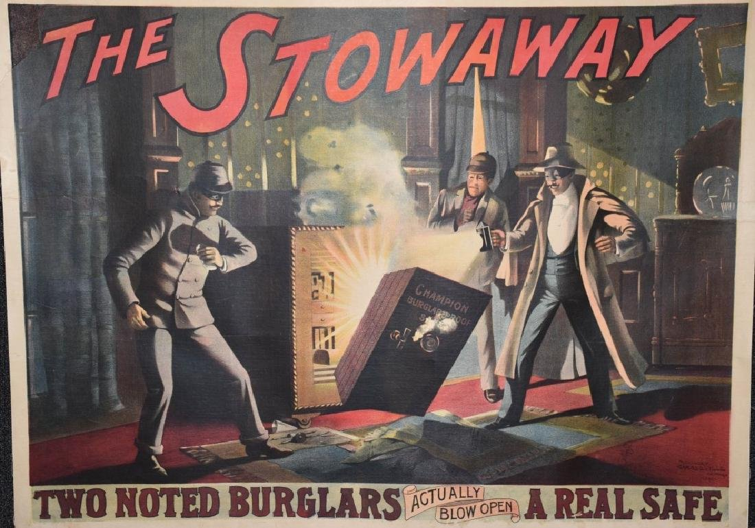 "THE STOWAWAY ""BURGLERS & SAFE"" POSTER"