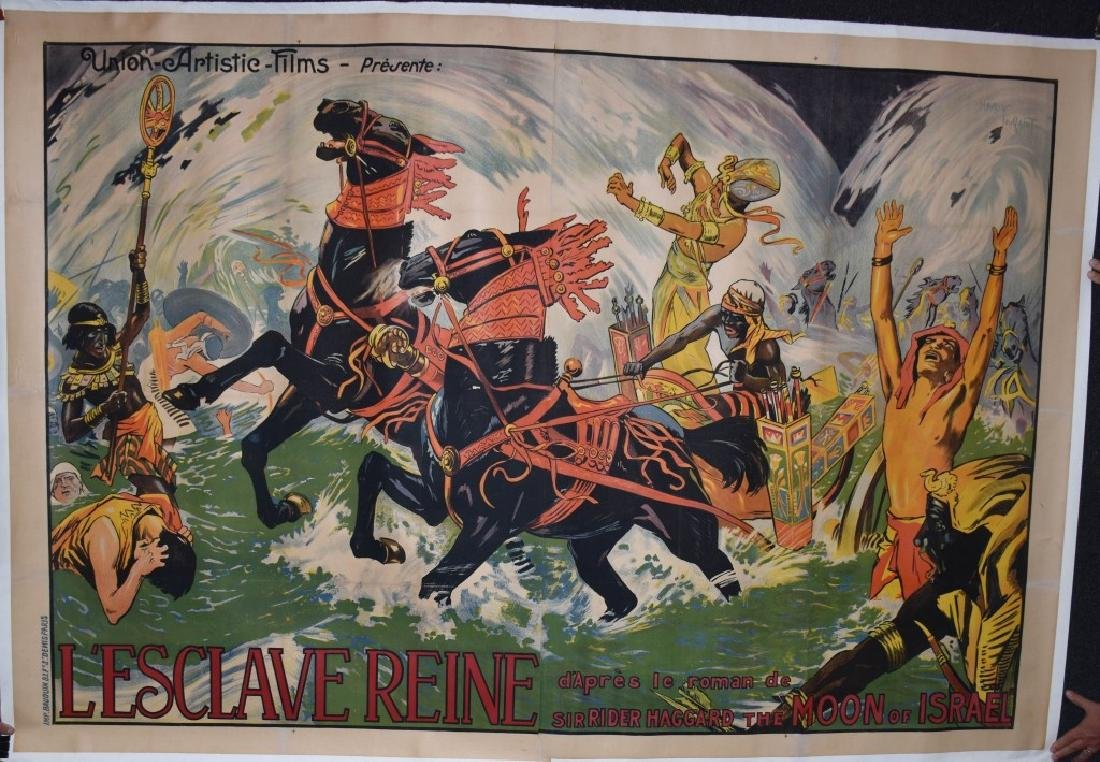 1924 FRENCH L'ESCLAVE REINE 3- SHEET MOVIE POSTER