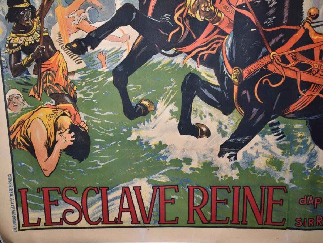 1924 FRENCH L'ESCLAVE REINE 3- SHEET MOVIE POSTER - 7